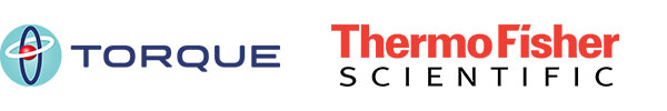 logos for Torque Therapeutics and Thermo Fisher Scientific