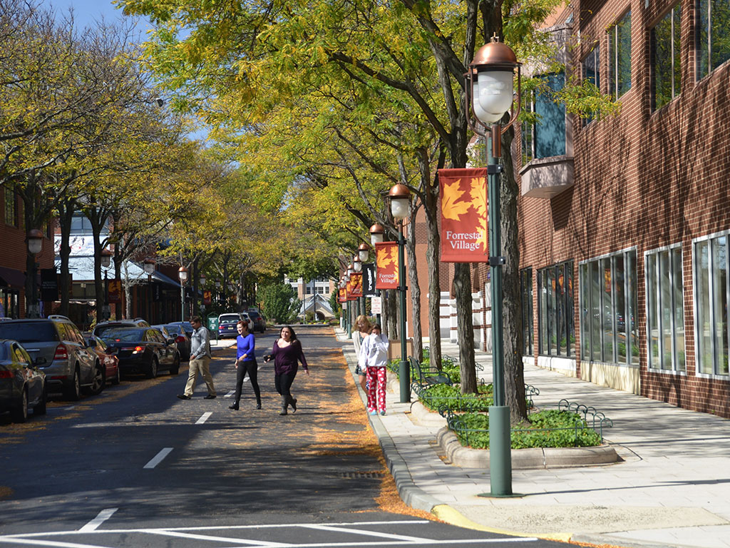 Photo of a street at Princeton Forrestal Village