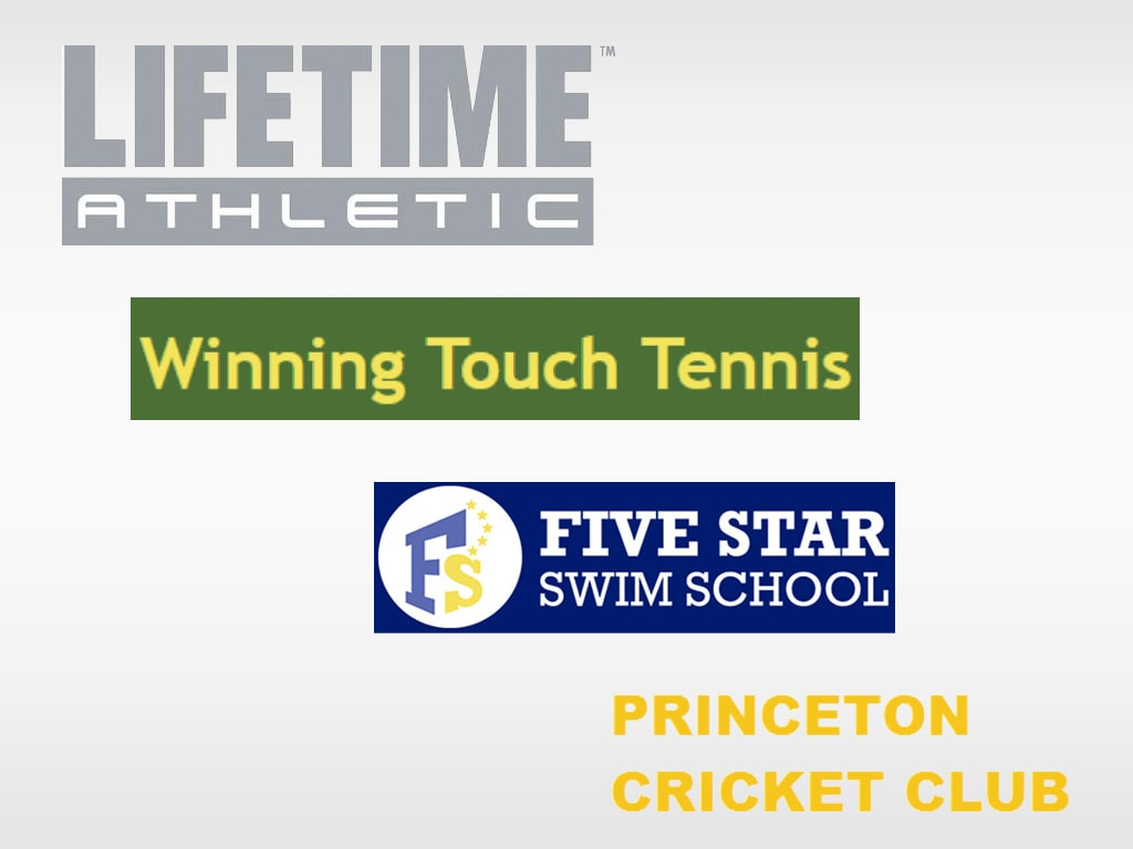 logos for Lifetime, Winning Touch Tennis, and Princeton Cricket Club